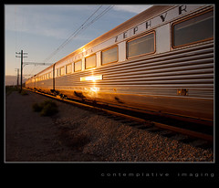 twilight of the nebraska zephyr (contemplative imaging) Tags: railroad summer usa sun