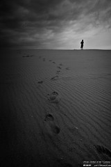 Where I'm going? (ech119) Tags: ocean sea sky beach silhouette dark loneliness photographer desert hard footprints journey single pace  penghu   insist efforts           kingibe