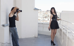 Making of con Neidy (Verónica Bautista) Tags: woman brown girl hair luis brunette making neidy plastikete