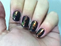 Cenário Perfeito - Risqué + Cobertura Encantada - Risqué (coelho_gabrielle) Tags: black nail risque flocado