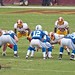 Redskin LB London Fletcher (59) eyes Rookie QB Andrew Luck.