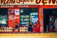 Women in traitional dress in Panama.