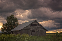 Stormy Clouds Over The Barn House (k009034) Tags: 500px wooden copy space finland matkaniva oulainen agriculture architecture barn building clouds countryside dramatic sky fields nature no people old rural storm summer thunder weather teamcanon copyspace dramaticsky nopeople