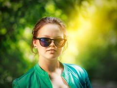 Angelina (koliru) Tags: portrait people color green girl beauty canon garden colorfull boken 6d ef70200mm