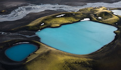 It Takes Two (Carolyn Cheng) Tags: iceland glaciallake glaciallakes bluepools highlands helicopter aerial nikon d810 carolyncheng
