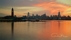Lackawanna (Hieroglyphics...) Tags: nyc newyorkcity midtownmanhattan empirestatebuilding sunrise goldenmoment goldenhues goldenreflection reflections waterreflections hudsonriver slowshutter concretejungle newyork newyorkskyline skyline