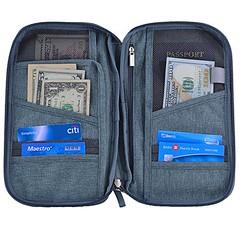 Hopsooken Travel Wallet & Passport Holder Organizer Multi-purpose Rfid Blocking ID Card Pouch Clutch Bag (Gray) (wupplestravel) Tags: blocking card clutch gray holder hopsooken multipurpose organizer passport pouch rfid travel wallet