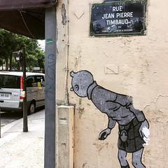#tintin #herge #survey #watch #journalist  #streetart #graffiti #graff #spray #bombing #wall #pochoir #collage (pourphilippemartin) Tags: collage tintin herge survey watch journalist streetart graffiti graff spray bombing wall pochoir