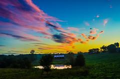 Colors at sunrise...... (tomk630) Tags: virginia sunrise farm colors nature usa reflection