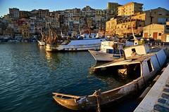 Sunset in Sciacca (Antonio Cinotti ) Tags: sciacca sicilia sicily harbor sunset tramonto italia italy boats fishingboats nikond7100 nikon d7100 rollinghills nikon1685 sea seascape porto dock enjoysciacca visitsciacca