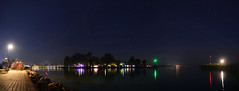 Balatonboglr - pier (szocsiandris) Tags: night longexposure panorama pier harbour balaton camping starry