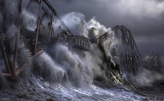 Stolen Wave and Forth Bridge (wentloog) Tags: freakingnews theft johnx1 copyright wave forth bridge forthbridge storm porthcawl wentloog stevegarrington johnwilson