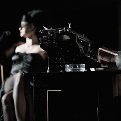 Noire (Pierre Nasti) Tags: avignon theater woody allen detective hardboiled femme fatale