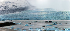 time for a glacier to weep blue tears (lunaryuna) Tags: iceland southeasticeland fjallsarlonglacierlagoon mountain glacier glaciertongue glacierlagoon glacialice glacialicefloes thecolourofcold landscape winter season seasonalwonders lunaryuna