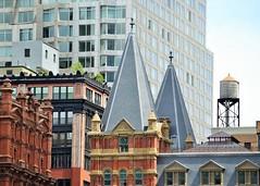 The Many Faces of NYC (KaDeWeGirl) Tags: newyorkcity manhattan lowermanhattan buildings architecture windows rooftops