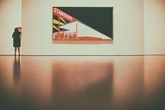 Standard (Thomas Hawk) Tags: america california edruscha edruschaandthegreatamericanwestshow2016 goldengatepark museum ruscha sanfrancisco standard usa unitedstates unitedstatesofamerica artmuseum deyoung deyoungmuseum gasstation painting