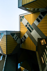 living as an urban roof (aniretak) Tags: netherlands rotterdam architecture europe travel building outdoor colour kubuswoningen blaak yellow cube house windows pietblom structuralism