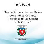 Frente Parlamentar em Defesa dos Direitos da Classe Trabalhadora do Campo e da Cidade 16/08/2015