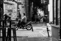 Too Fast (onemoregeorge.frames) Tags: 2016 d40x greece nafplio nikon september autumn bike blackandwhite monochrome omg onemoregeorge streetphotography vehicle