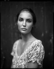 * (derlevi) Tags: portrait woman film 4x5 largeformat aeroektar speedgraphic