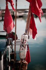 flags (hansekiki ) Tags: rgen sassnitz bokeh zeissbiotar75mmf15 carlzeissjena m42 canon 5dmarkiii ostsee balticsea hafen