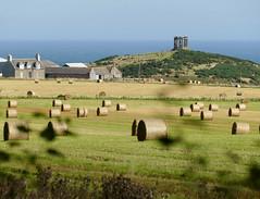 Straw Bales and War Memorial (chdphd) Tags: stonehaven aberdeenshire kincardineshire