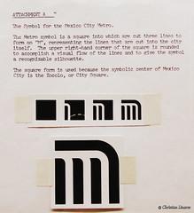 The Symbol for the Mexico City Metro (Christian Linarez) Tags: muac metrodf stcmetro stc 47 aniversario archivo metro subway subterrneo mexico city 1969