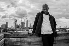 Devon (Gary Kinsman) Tags: canoneos5dmarkii london se1 blackwhite portrait canon5dmkii bw man pose posed 2016 southwark stc southwarktrainingcentre lfb londonfirebrigade skyline elephantcastle flash canonspeedlite430exmkii city urban canon35mmf2
