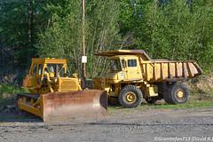 Cat D8K & 769 (Trucks, Buses, & Trains by granitefan713) Tags: cat caterpillar equipment heavyequipment oldequipment oldiron heavyiron cat769 769 haultruck rocktruck quarrytruck dozer bulldozer crawlertractor catd8 d8k