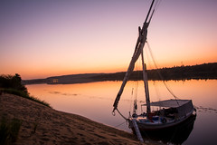 Sunrise at Nile (Exaption) Tags: sunrise nile aswan egypt felucca nubian