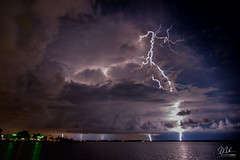 Lightning in Melbourne, Florida (Michael Seeley) Tags: florida indianriver indianriverlagoon lightning melbourne michaelseeley mikeseeley storm stormchasing stormclouds stormstalkers thunderstorm weather