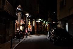 CINEMA (JC Arranz) Tags: hotel españa cinema noche ciudad calle neon cataluña gerona luces terraza cine gentes camprodón