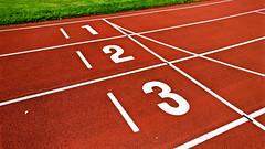 Athletics track start line numbers 1, 2, 3 (Santeri Viinamaki) Tags: athleticstrackstartlinenumbers123 trackandfield athletics track startline 123 13 sprint athletic startlinie runningtrack