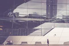 Wait (Bokehschtig (ON/OFF)) Tags: bmwwelt bmwmuseum bmw mnchen munich architecture reflections glass windows people street sony a7 sonya7m2 a7m2 sel1635z