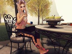 In my garden. (ℒزdsα) Tags: magika it hillyhaalan reign gasclothing lazybones gabriel itdoll doll avatar girl cute fashion sl secondlife morning catwa slink maitreya