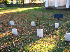 Headstones (Photo Squirrel) Tags: grave headstone gravemarker cemetery fall morning sunrise battlegroundcemetery washingtondc
