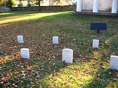 Headstones (Photo Squirrel) Tags: grave headstone gravemarker cemetery fall morning sunrise battlegroundcemetery washingtondc