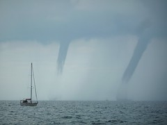 Yachts in danger (crystallakes) Tags: yacht waterspouts danger weather storm piran slovenia