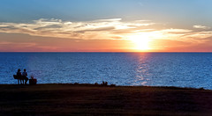 Last of Summer (HJharland5) Tags: lake water sunset lakeerie blue sun summer clouds horizon landscape shoreline