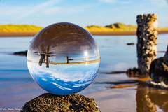 DSC_0806.jpg (leefowlie) Tags: balmediebeach sand posts crystalball sea