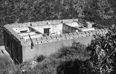 WWII Coastal artillery, Lower barracks (Mnt. Moro, Genova, Italy) (Federico Pitto) Tags: bw nikkor50mm14 micro microphen rolleirpx400 genova montemoro