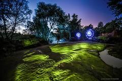 Nothing Lasts Forever (john&mairi) Tags: cochno stone cupring markings prehistoric rock art faifley clydebank glasgow vandalism lightpainting lighttrails silhouette night nighttime archeology university