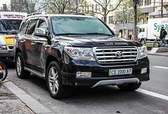 Ukraine (Chernivtsi) - Toyota Land Cruiser V8 (PrincepsLS) Tags: ukraine ukrainian license plate ce chernivtsi chernivetska oblast germany berlin spotting toyota land cruiser v8
