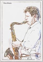 """Brice inline"" (""SnapDecisions"" photography) Tags: stphillips tucson arizona bricewinston music jazz sax tenor nikon d750 hirschfeld brushstroke"