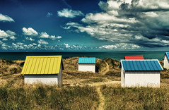 Colourful houses on the beach (gagliardiphotography) Tags: beach house holiday bahamas sky houses white summer blue travel australia colorful huts brighton hut melbourne sand color colored small town resort beautiful cape wood bathing vacation yellow sea tropical lovely island cabins sandy red