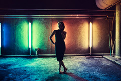 Silhouettes, Shadows (Jon Siegel) Tags: nikon d810 sigma 24mm 14 sigma24mmf14art woman girl beautiful beauty sexy dress modeling model evening night silhouette ambience rooftop colorful singapore asia asian mystery mysterious shadows goldenmiletower