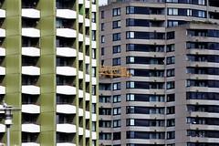 Haus 2 (*Darenae) Tags: gebäude köln rhein ufer rheinufer promenade grafik balkon baum natur kirschbaum kirschen