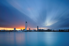 Spinnaker at Dawn (Mark A Jones (Andreas Jones Photography)) Tags: longexposure seascape nikon portsmouth spinnakertower spinnaker gosport portsmouthharbour gunwharfquays millenniumpier leefilters d700 leebigstopper