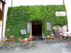 Passau / Ivy Covered Cafe 8384 (Mr.J.Martin) Tags: castle abbey germany bayern bavaria austria inn catholic cathedral worldwarii fortress danube romancatholic danuberiver passau threerivers monestary rivercruise romancatholicchurch oberhaus innriver ilz adolphhitler braoque cityofthreerivers niederhaus salttrade ilzriver oberhausandniederhaus