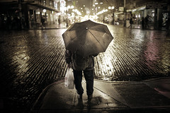 Umbrella blues (sparth) Tags: seattle street leica silhouette umbrella downtown nightshot streetphotography pike curb pikestreet parapluie downtownseattle m9 leicam9